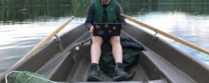 coding in a boat