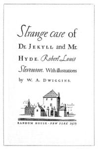 Jekyll and Hyde book cover [Robert Louis Stevenson, W.A. Wiggins]